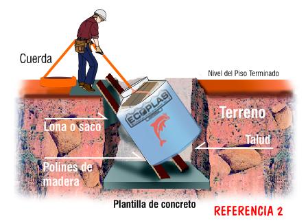 Instalación de cisterna Ecoplas - Referencia 2