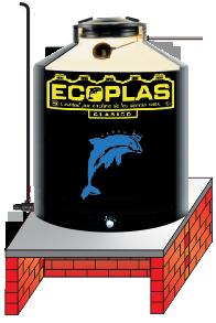 Instalación de tinacos Ecoplas sobre superficie plana