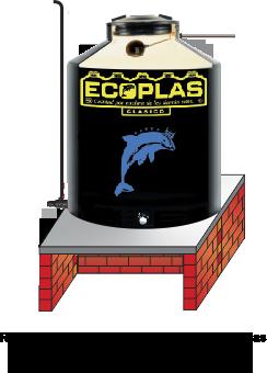 Tinaco Ecoplas Instalado sobre base plana