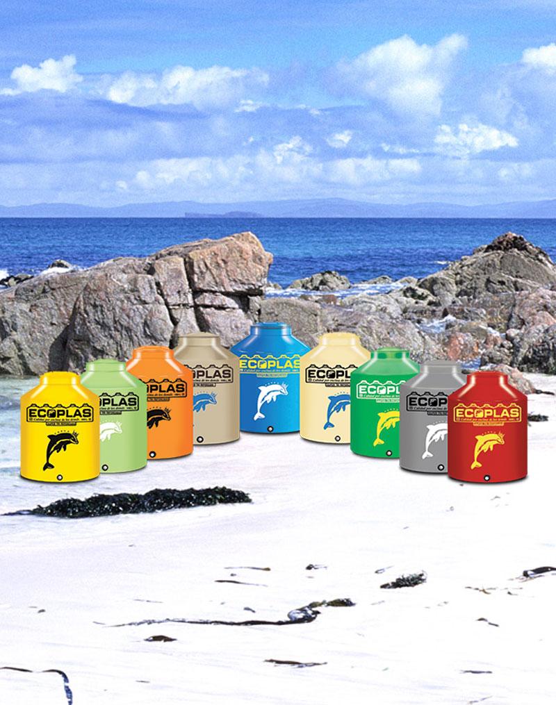 Tinaco Ecoplas tricapa colores